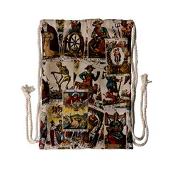 Tarot Cards Pattern Drawstring Bag (small) by Valentinaart