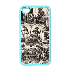 Tarot Cards Pattern Apple Iphone 4 Case (color) by Valentinaart
