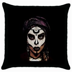 Voodoo  Witch  Throw Pillow Case (black) by Valentinaart