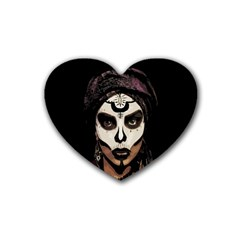 Voodoo  Witch  Rubber Coaster (heart)  by Valentinaart