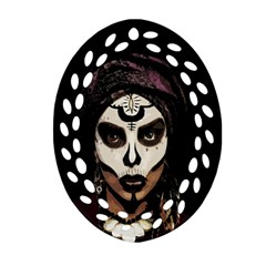 Voodoo  Witch  Ornament (oval Filigree) by Valentinaart