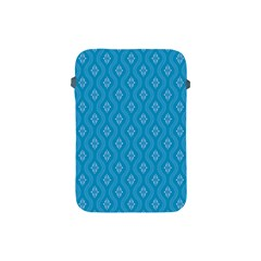Blue Ornamental Pattern Apple Ipad Mini Protective Soft Cases by TastefulDesigns