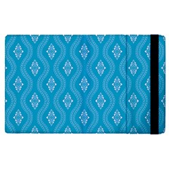 Blue Ornamental Pattern Apple Ipad Pro 12 9   Flip Case