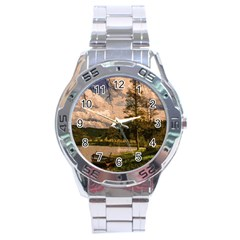 Landscape Stainless Steel Analogue Watch by Valentinaart