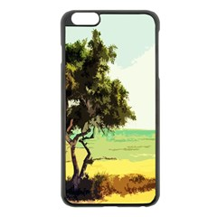 Landscape Apple Iphone 6 Plus/6s Plus Black Enamel Case