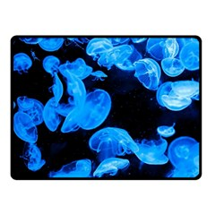 Jellyfish  Double Sided Fleece Blanket (small)