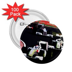 Formula 1 2 25  Buttons (100 Pack)  by Valentinaart