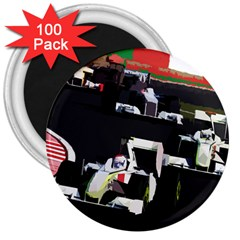 Formula 1 3  Magnets (100 Pack) by Valentinaart