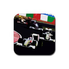 Formula 1 Rubber Coaster (square)  by Valentinaart