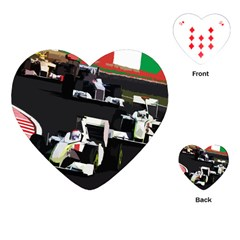 Formula 1 Playing Cards (heart)  by Valentinaart