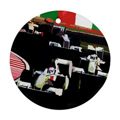 Formula 1 Round Ornament (two Sides) by Valentinaart