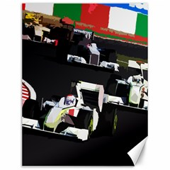Formula 1 Canvas 12  X 16   by Valentinaart