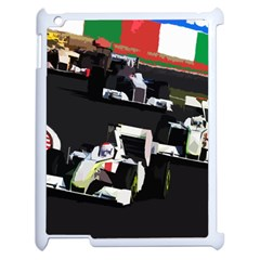 Formula 1 Apple Ipad 2 Case (white) by Valentinaart