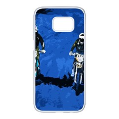 Motorsport  Samsung Galaxy S7 Edge White Seamless Case by Valentinaart