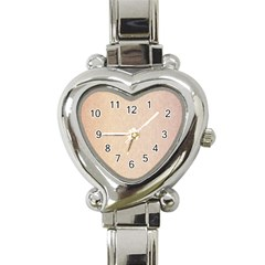 Pastel Colors Glitter Pattern Heart Italian Charm Watch by paulaoliveiradesign