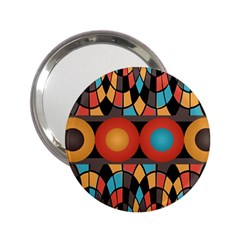 Colorful Geometric Composition 2 25  Handbag Mirrors by linceazul