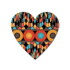 Colorful Geometric Composition Heart Magnet by linceazul