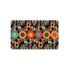 Colorful Geometric Composition Magnet (name Card) by linceazul