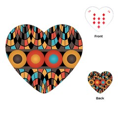 Colorful Geometric Composition Playing Cards (heart)  by linceazul