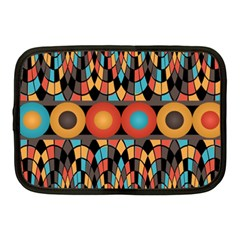 Colorful Geometric Composition Netbook Case (medium)  by linceazul