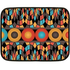 Colorful Geometric Composition Double Sided Fleece Blanket (mini)  by linceazul