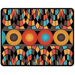 Colorful Geometric Composition Fleece Blanket (medium)  by linceazul