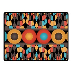 Colorful Geometric Composition Fleece Blanket (small) by linceazul