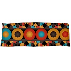 Colorful Geometric Composition Body Pillow Case (dakimakura) by linceazul