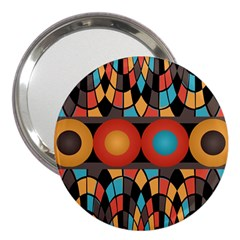 Colorful Geometric Composition 3  Handbag Mirrors by linceazul