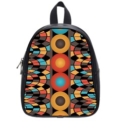 Colorful Geometric Composition School Bags (small)  by linceazul