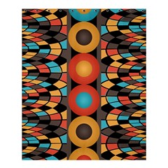 Colorful Geometric Composition Shower Curtain 60  X 72  (medium)  by linceazul