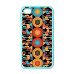Colorful Geometric Composition Apple Iphone 4 Case (color) by linceazul