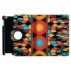 Colorful Geometric Composition Apple Ipad 2 Flip 360 Case by linceazul
