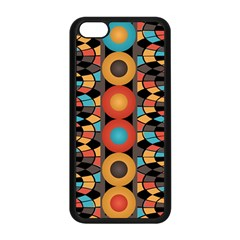 Colorful Geometric Composition Apple Iphone 5c Seamless Case (black) by linceazul