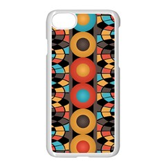Colorful Geometric Composition Apple Iphone 7 Seamless Case (white) by linceazul