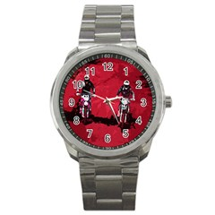 Motorsport  Sport Metal Watch by Valentinaart