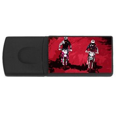 Motorsport  Rectangular Usb Flash Drive by Valentinaart