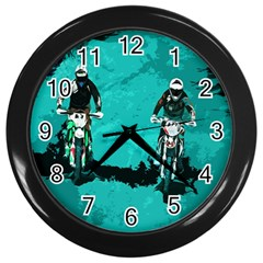 Motorsport  Wall Clocks (black) by Valentinaart