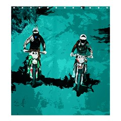 Motorsport  Shower Curtain 66  X 72  (large)  by Valentinaart