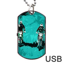 Motorsport  Dog Tag Usb Flash (two Sides) by Valentinaart