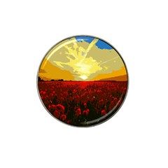 Poppy Field Hat Clip Ball Marker