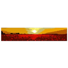 Poppy Field Flano Scarf (small) by Valentinaart