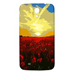 Poppy Field Samsung Galaxy Mega I9200 Hardshell Back Case by Valentinaart