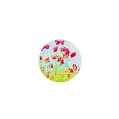 Poppy Field 1  Mini Buttons