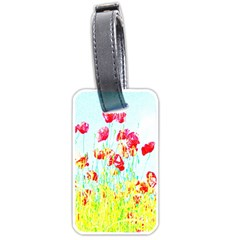 Poppy Field Luggage Tags (one Side)  by Valentinaart