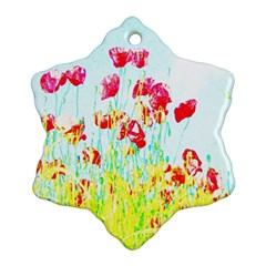 Poppy Field Ornament (snowflake) by Valentinaart