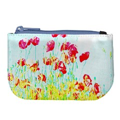 Poppy Field Large Coin Purse by Valentinaart