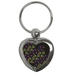Triangle Shapes                              Key Chain (heart) by LalyLauraFLM