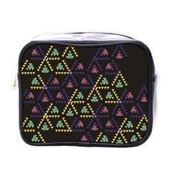 Triangle Shapes                              Mini Toiletries Bag (one Side) by LalyLauraFLM