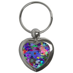 Big And Small Shapes                             Key Chain (heart) by LalyLauraFLM